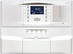 NM100WH shown with optional NC300WH CD Changer. Available in white finish.