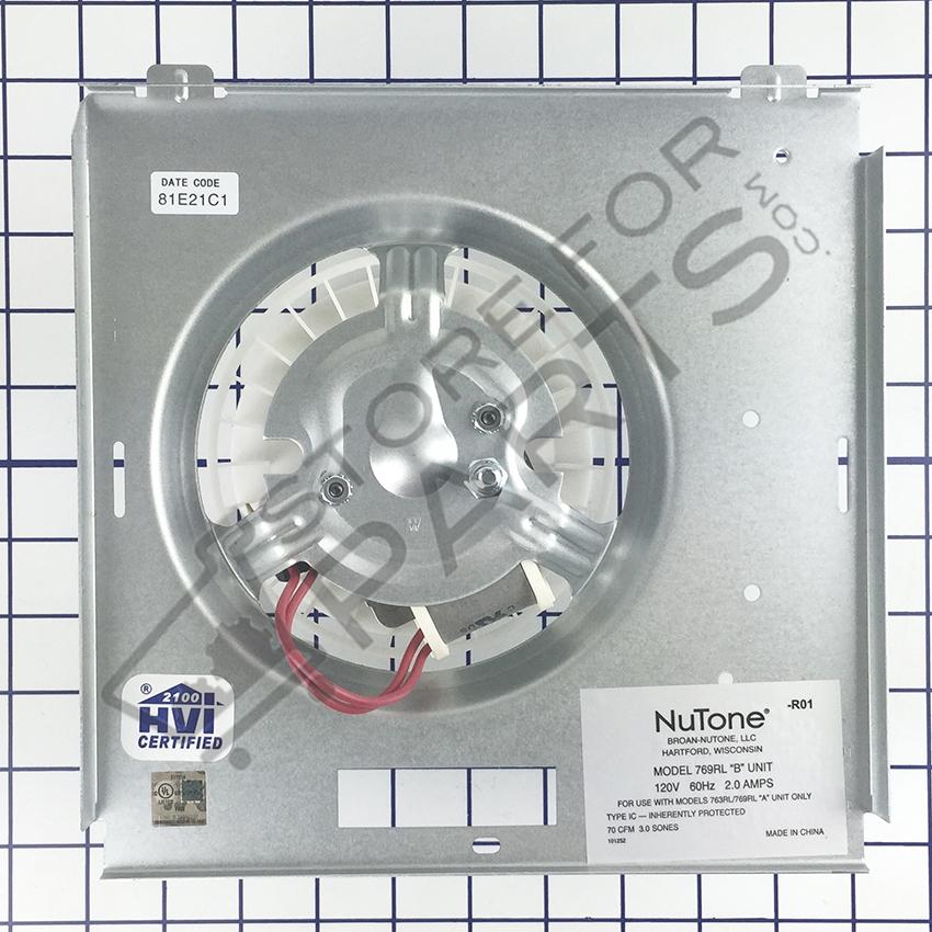 Nutone 769rft Exhaust Fan Light 70 Cfm Parts