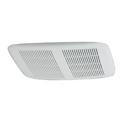 NuTone 8832WH Ceiling/Wall Exhaust Fan  Slim, Low-Profile White Polymeric Grille