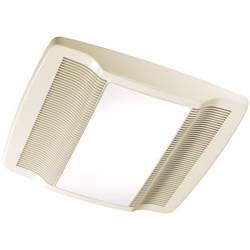 NuTone QTRN080L Ventilation Fan with Light 80 CFM 100W Incandescent Lighting  Dimension: 13'' x 14''